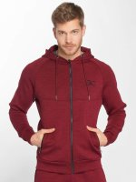 GymCodes Sweat capuche zippé Athletic-Fit rouge