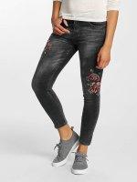 Hailys Jeans slim fit Sari Roses nero