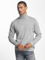Jack & Jones Пуловер jorLinking Knit Roll Neck серый