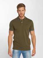 Jack & Jones Polo jjeContrast Stripe olive
