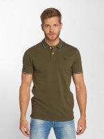 Jack & Jones Poloshirt jjeContrast Stripe olive