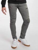 Jack & Jones Slim Fit Jeans jjiGlenn jjJaxx Biker grijs