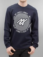 Jack & Jones Sweat & Pull jcoPique bleu