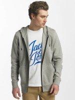 Jack & Jones Sweat capuche zippé jcoShaun gris