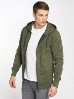 Jack & Jones Sweat capuche zippé jcoDonde Easter olive