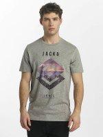 Jack & Jones t-shirt jcoSpring-Felling grijs