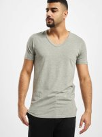 Jack & Jones T-Shirt Core Basic V-Neck gris