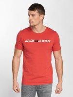 Jack & Jones T-Shirt jjeCorp Logo rot