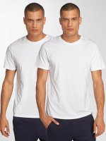 Jack & Jones T-Shirt jjePlain 2-Pack weiß