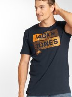 Jack & Jones T-Shirty jcoMase niebieski