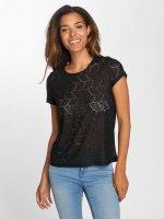 JACQUELINE de YONG t-shirt jdyTag Lace zwart