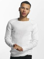 John H Pullover Knit Ribbed weiß