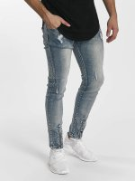 John H Slim Fit Jeans Destroyed blauw