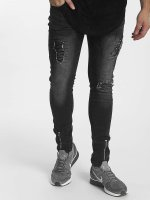 John H Slim Fit Jeans Zipper schwarz