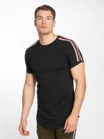 John H T-Shirt Stripe schwarz