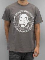Joker T-shirts Circle Clown grå
