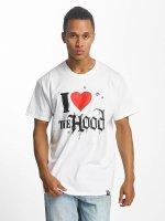 Joker T-skjorter Hood Love hvit