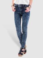 Just Rhyse High Waisted Jeans High Waist modrý