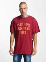 K1X T-Shirt Play Hard Basketball rouge