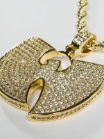 KING ICE Цепочка WU-TANG CLAN Gold_Plated CZ The