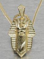 KING ICE Cadena Bandana Pharaoh oro