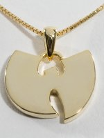 KING ICE Cadena WU-TANG CLAN Gold_Plated 925 Sterling_Silver