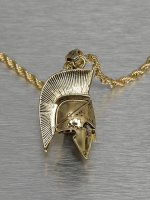 KING ICE ketting Gladiator Helmet goud