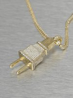 KING ICE ketting Plug goud