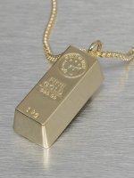 KING ICE Necklace Bar Brick gold
