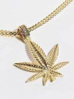 KING ICE Necklace Jungl Julz Weed Leaf gold