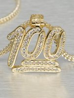 KING ICE Necklace 100 Points Emoji gold colored