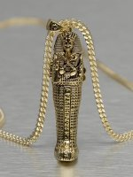 KING ICE Necklace Tut Coffin gold colored