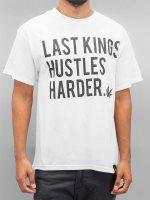 Last Kings T-Shirt Hustle Hard blanc