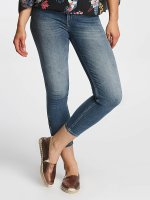 Lee Skinny Jeans Scarlett Cropped niebieski