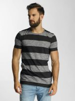 Lindbergh T-Shirt Uneven Stripes bleu