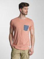 Lindbergh T-Shirt Dyed O-Neck rosa