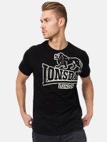 Lonsdale London T-Shirt Langsett noir