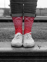 LUF SOX Chaussettes Rorth rouge