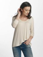 Mavi Jeans T-Shirt manches longues Basic Zip blanc