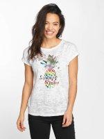 Mavi Jeans T-Shirt Pineapple Printed weiß