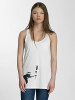 Merchcode Débardeur Ladies Banksy Painter Rat blanc