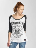 Merchcode Longsleeves Ladies Ramones Circle Raglan bialy