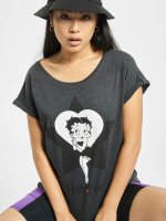Merchcode t-shirt Betty Boop Star grijs