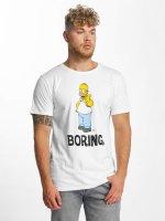 Merchcode T-Shirt Simpsons Boring weiß