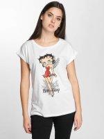 Merchcode T-Shirt Betty Boop Red Dress weiß