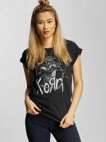 Merchcode t-shirt Korn Cracked Glass zwart