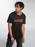 Merchcode t-shirt Gorillaz Logo zwart