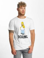 Merchcode T-shirts Simpsons Boring hvid