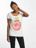 Merchcode T-shirts Simpsons Donut hvid
