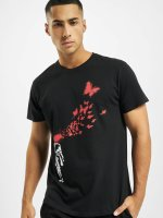 Merchcode T-Shirty Banksy Butterfly czarny